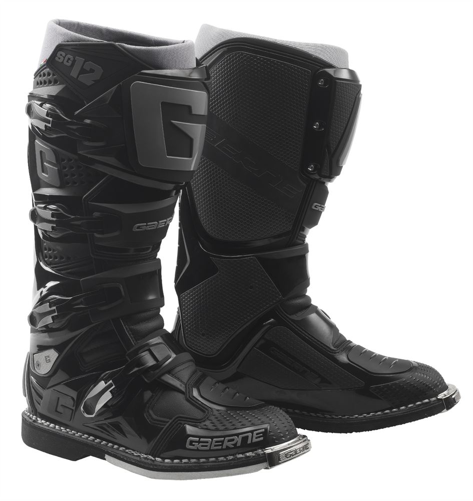 Gaerne Boots Sg12 >> Gaerne SG12 Black Enduro Boots