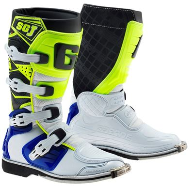 Gaerne SGJ White/Blue/Yellow Kids MX Boots
