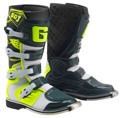 Gaerne SGJ White/Grey/Yellow MX Kids Boots