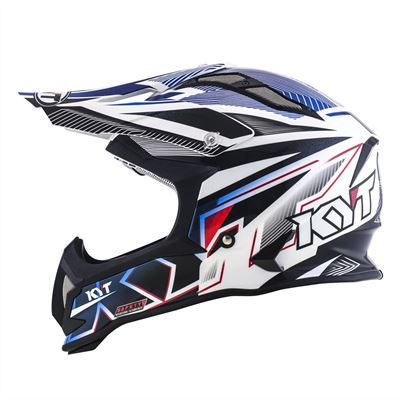 KYT STRIKE EAGLE STRIPE WHITE BLUE 06
