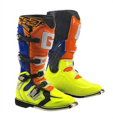 Gaerne React Orange Blue Yellow MX Boots