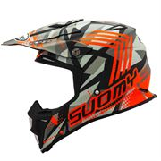 MX SPEED - SERGEANT - MATT GREY ORANGE FLUO (2) copy