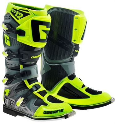 Gaerne SG12 Neon Yellow/Grey MX Boots